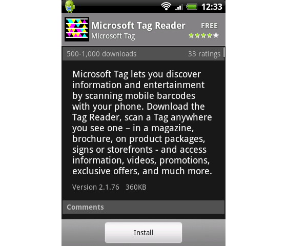 Microsoft-Tag-Reader-Android-app